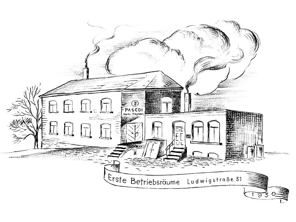 Hlavná budova spoločnosti Pascoe na Ludwigstraße, Gießen – 1922