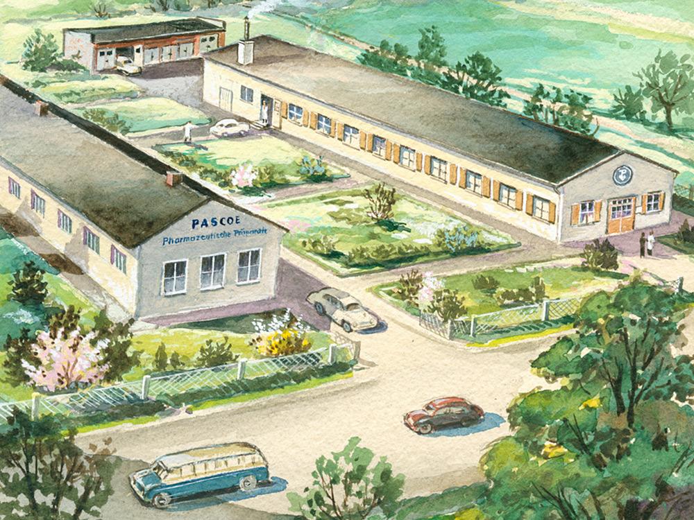 Budova spoločnosti Pascoe v Schiffenberger Weg – 1952